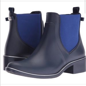 Kate Spade navy blue short rain boots